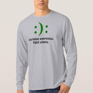 Aumente la conciencia., estigma de la lucha.:): camiseta