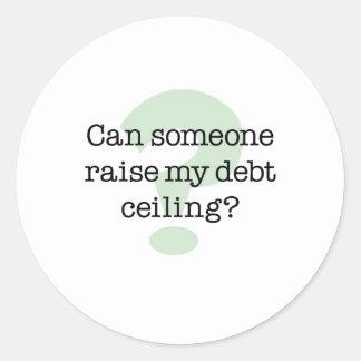 Aumente mi techo de deuda pegatina redonda