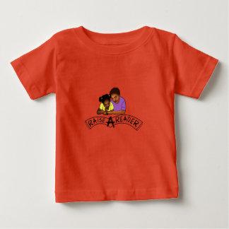 Aumente una camiseta del bebé del lector