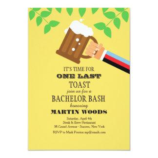 Aumentemos la invitación de algunas cervezas invitación 12,7 x 17,8 cm