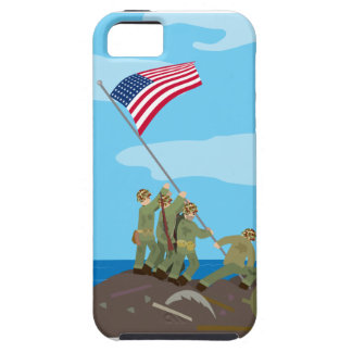 Aumento de la bandera en Iwo Jima WWII Funda Para iPhone SE/5/5s