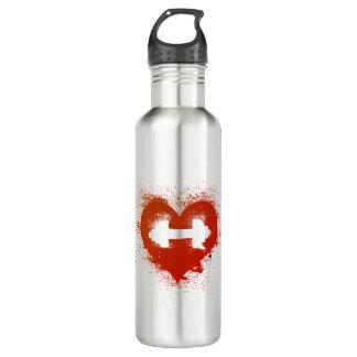 Aumentos del amor - entrenamiento del peso botella de agua