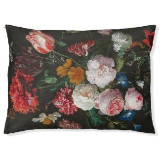 Aún cama floral del perro de la vida