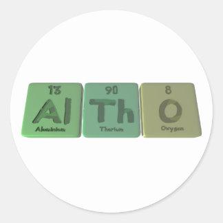 Aunque-Al-Th-o-aluminio-torio-Oxígeno Etiqueta