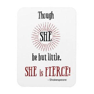 aunque ella sea pero poco ella es feroz imán flexible