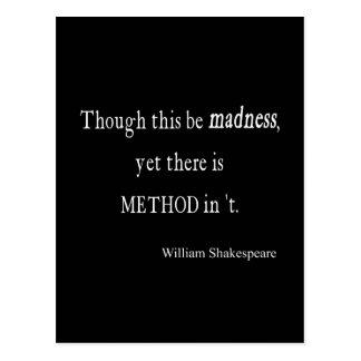 Aunque sea cita de Shakespeare de la locura con Postal