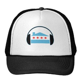 Auriculares de la bandera de casa de Chicago Gorras De Camionero