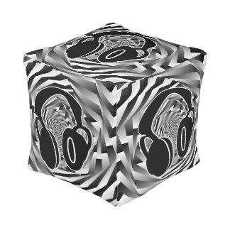 Auriculares espirales blancos y grises negros