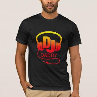 Auriculares rojos de DJ del amarillo del papá Camiseta