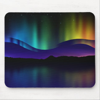 Aurora boreal alfombrilla de ratón