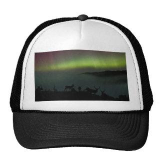 Aurora boreal con el gorra/el casquillo de los gorro