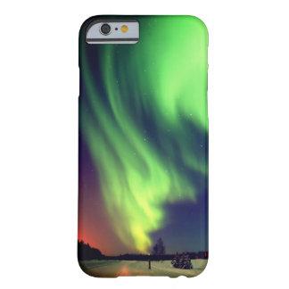 Aurora boreal de Alaska verde clara Funda Barely There iPhone 6