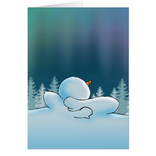 Aurora boreal tarjeta de felicitación