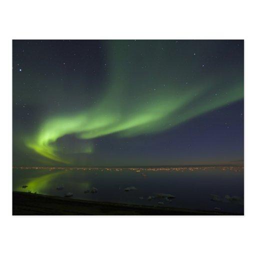Aurora Borealis reflejado en el Océano ártico 2 Postales