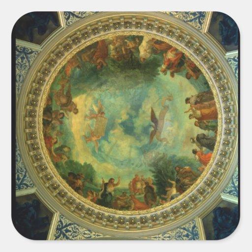 Aurora, techo que pinta posiblemente de la colcomania cuadrada