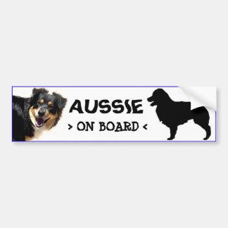 Aussie a bordo el pegatina etiqueta de parachoque