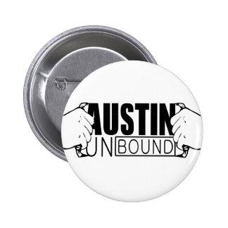 Austin desató el logotipo chapa redonda 5 cm