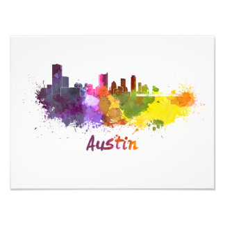 Austin skyline in watercolor foto
