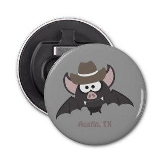 Austin, Tejas - palo del vaquero Abrebotellas Redondo