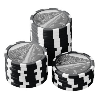 Australia blanco y negro Gold Coast Fichas De Póquer