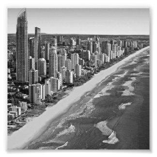 Australia blanco y negro Gold Coast Foto