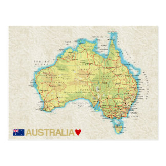 ♥ Australia de las POSTALES del MAPA