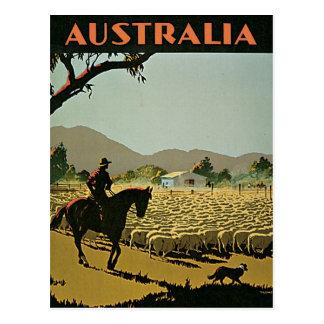 Australia en viaje del vintage de The Sun Postal