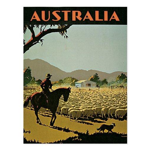 Australia en viaje del vintage de The Sun Tarjetas Postales