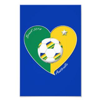 AUSTRALIA FÚTBOL equipo nacional Green & Gold 2014 Cojinete