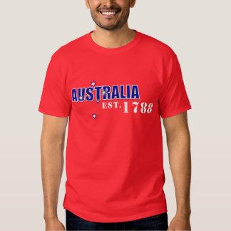 Australia para hombre, Est. 1788 Camisetas