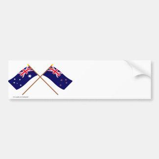Australia y banderas cruzadas Nueva Zelanda Pegatina Para Coche