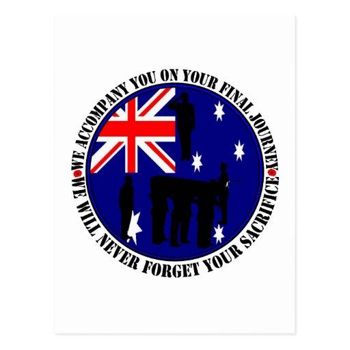 Australian trampas Heroes Funeral Postal