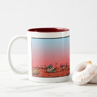 Australiana inspiró la taza de café con el canguro