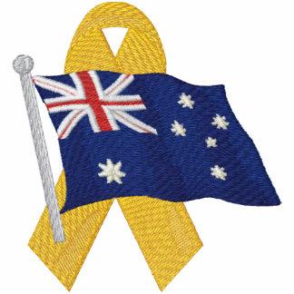 Australiano - apoye a nuestras tropas chaqueta
