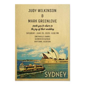 Australiano de Australia de la invitación del boda