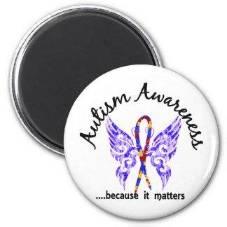 Autismo de la mariposa 6,1 del tatuaje del Grunge Iman De Nevera