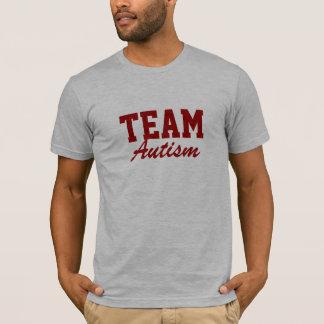 Autismo del equipo camiseta