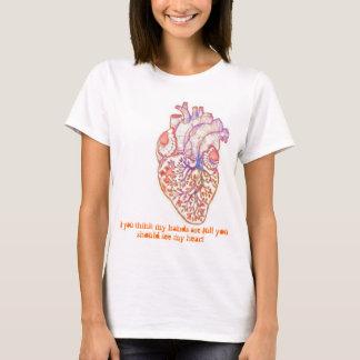 Autismo - manos y corazón completos camiseta