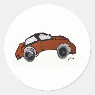 Auto antiguo pegatinas redondas