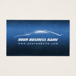 Auto azul fresco automotriz del coche tarjeta de visita