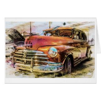 Auto clásico de Chevrolet Tarjeta De Felicitación