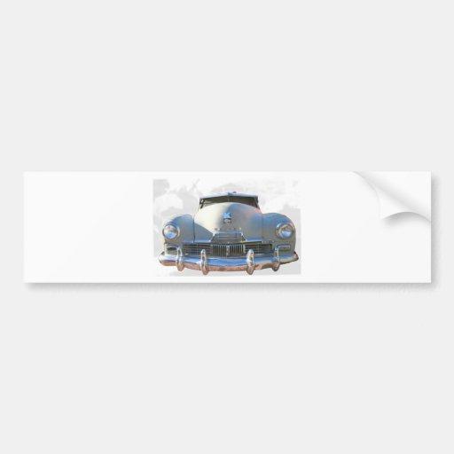 Auto clásico de Kaiser Etiqueta De Parachoque