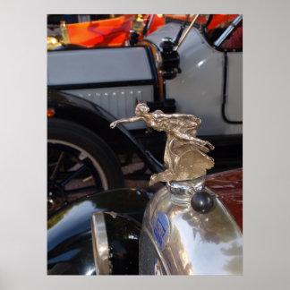 Auto clásico del coche de FIAT del vintage Póster