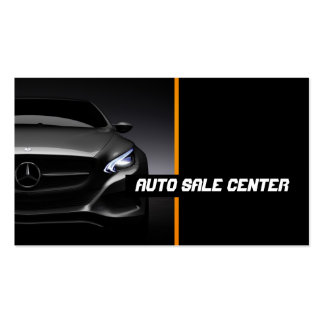 Auto, coche, tarjeta de visita del distribuidor