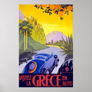 Auto Grecia del En de Grece del La de Visitez Póster