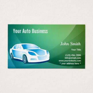 Auto moderno que detalla el coche profesional tarjeta de negocios