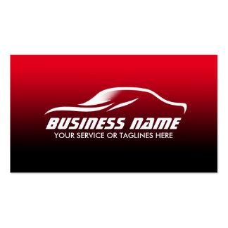 Auto que detalla automotriz negro y rojo tarjetas de visita