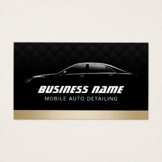 Auto que detalla el coche moderno automotriz del tarjeta de negocios