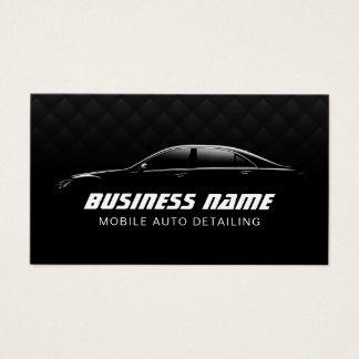 Auto que detalla el coche negro de lujo automotriz tarjeta de negocios