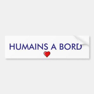 """autoadhesivo """"humanos a bordo """" pegatina para coche"""